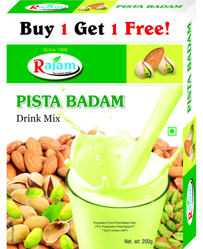 Rajam Pista Badam Mix 200g Box